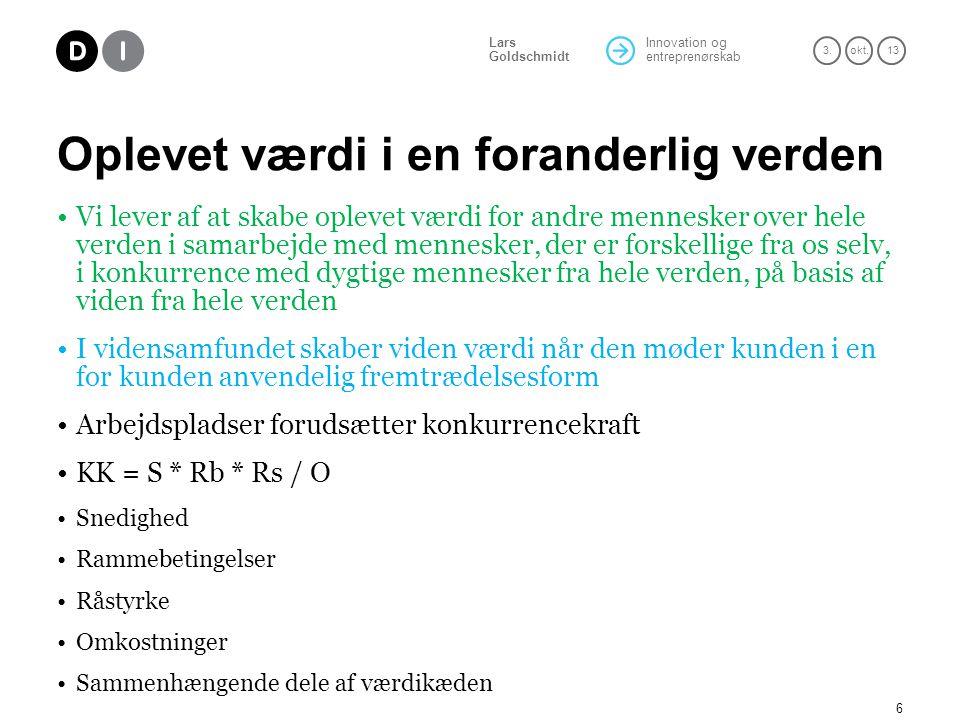 Innovation og entreprenørskab 3.okt.