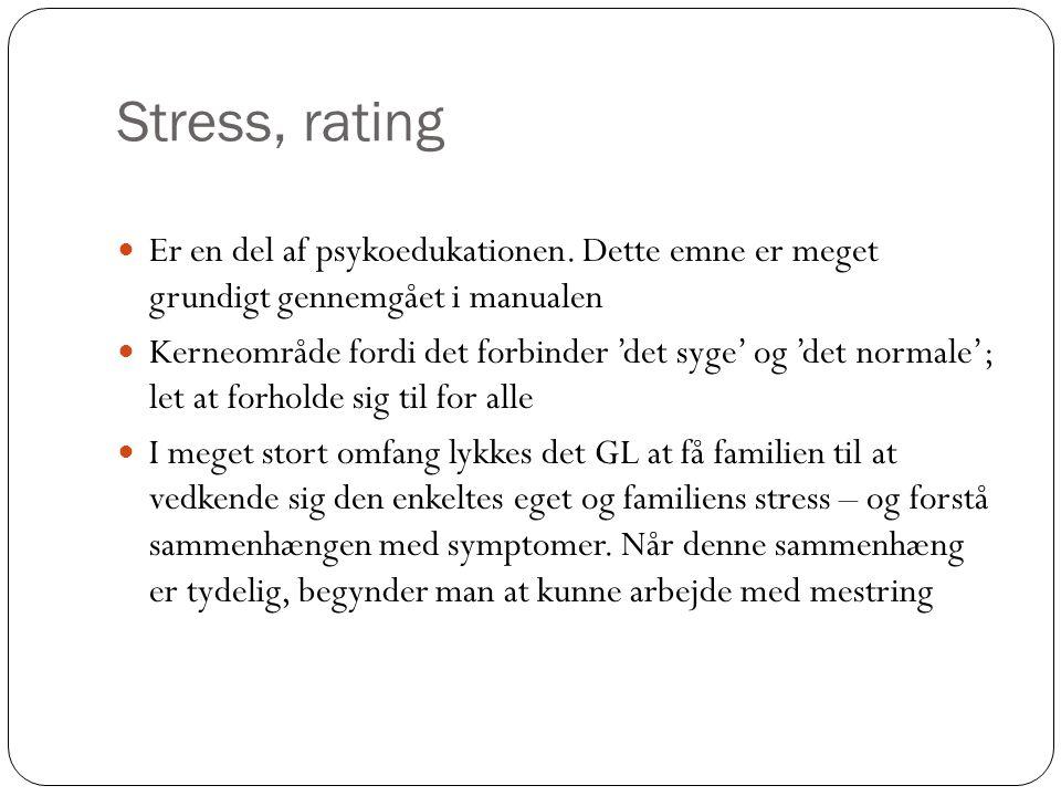 Stress, rating Er en del af psykoedukationen.