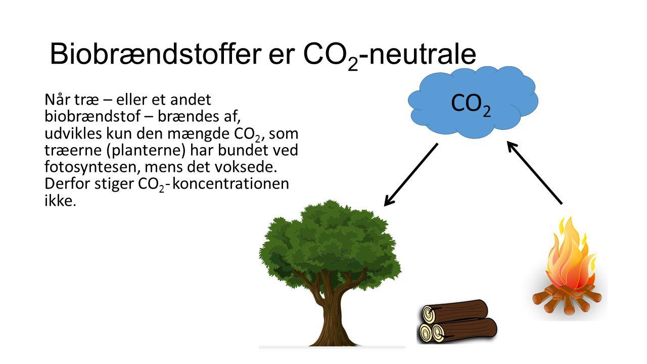 Politiske målsætninger Den øgede CO 2 -mængde i atmosfæren bidrager til drivhuseffekten/global opvarmning.