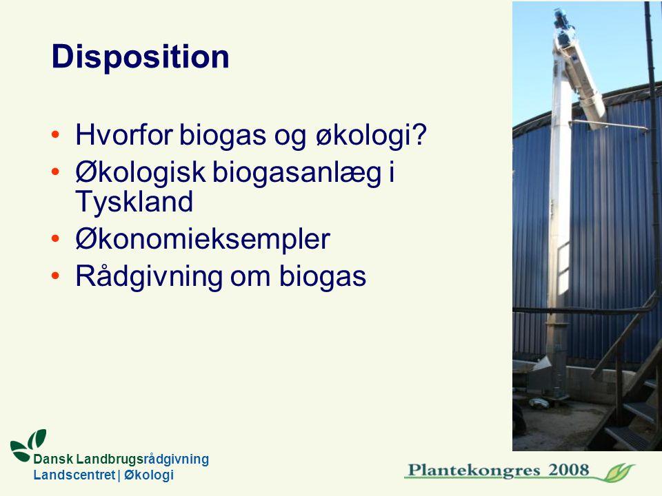 Dansk Landbrugsrådgivning Landscentret | Økologi Disposition Hvorfor biogas og økologi.