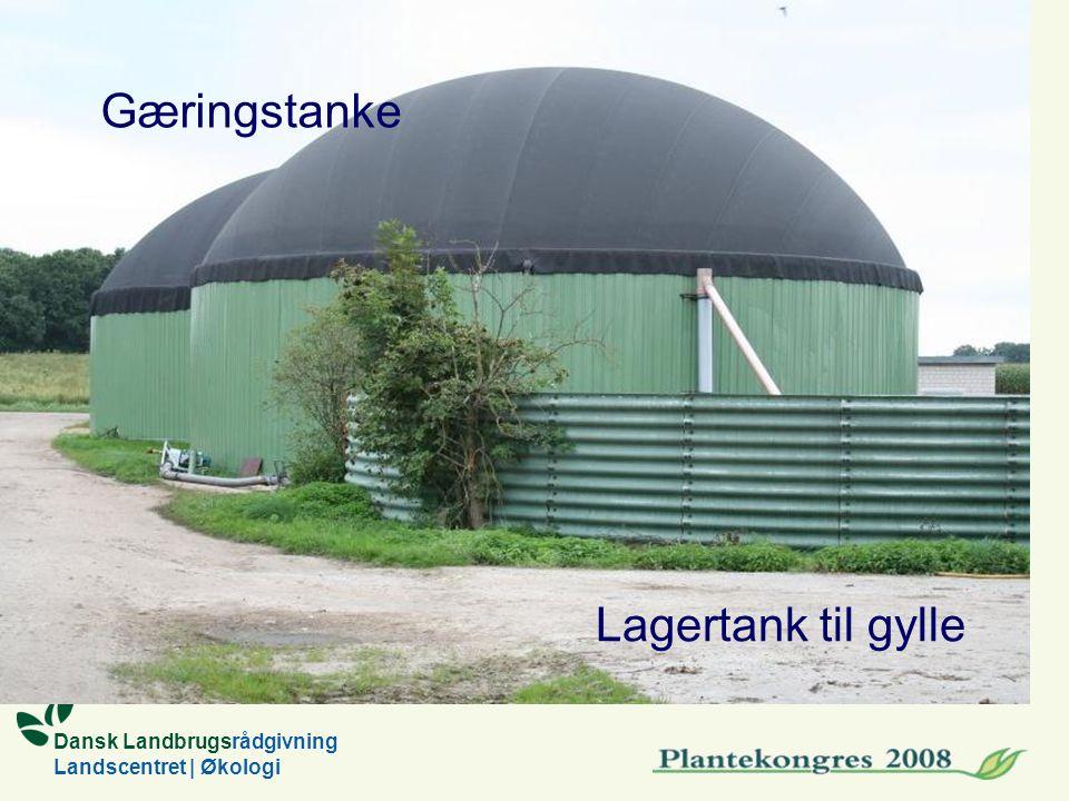 Dansk Landbrugsrådgivning Landscentret | Økologi Gæringstanke Lagertank til gylle