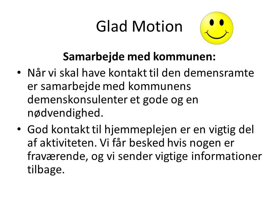 Vejen kommune Glad motion er et godt tilbud for vores demensramte borgere.