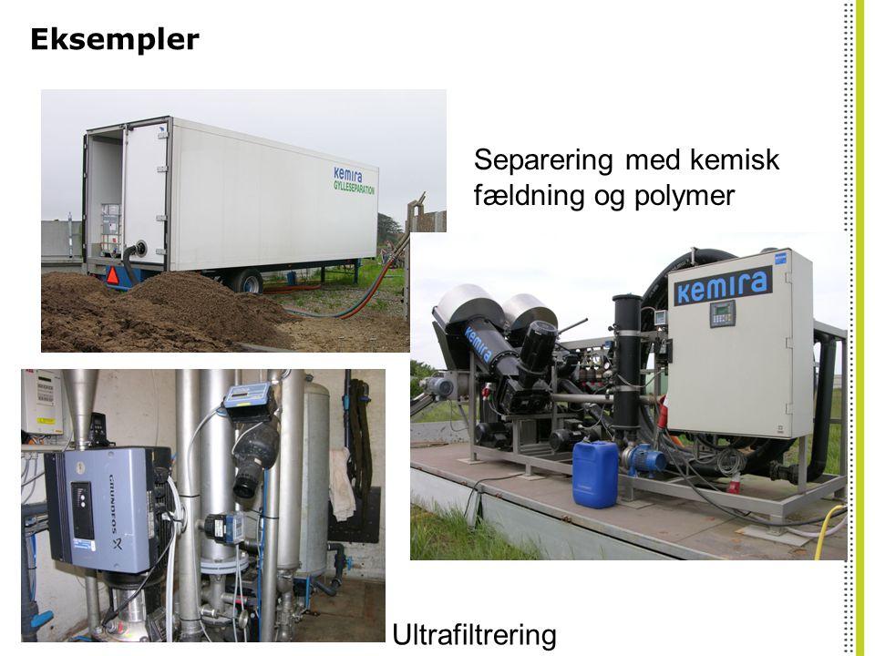 Separering med kemisk fældning og polymer Ultrafiltrering
