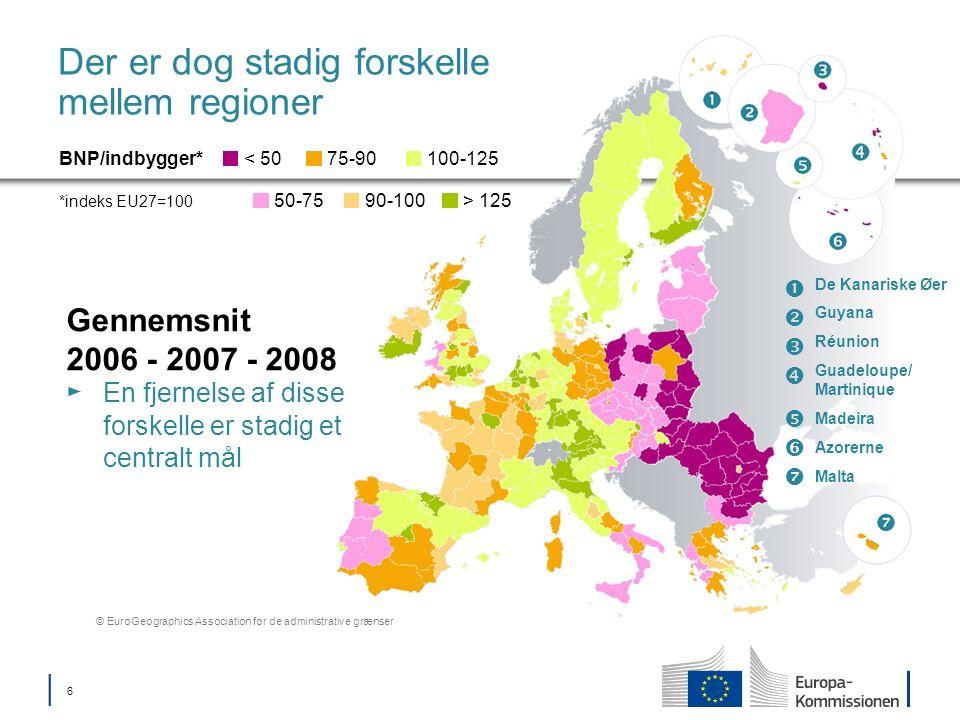 17 Samhørighedsfond Støtter medlemsstater med BNI/indbygger < 90 % af EU27-gennemsnittet Investering i miljø Tilpasning til klimaændringer og risikoforebyggelse Vand- og affaldssektorer Biodiversitet via grønne infrastrukturer Bymiljø Lavemissionsøkonomi Investering i transport Transeuropæiske transportnet (TEN-T) Lavemissionstransportsystemer og bytransport