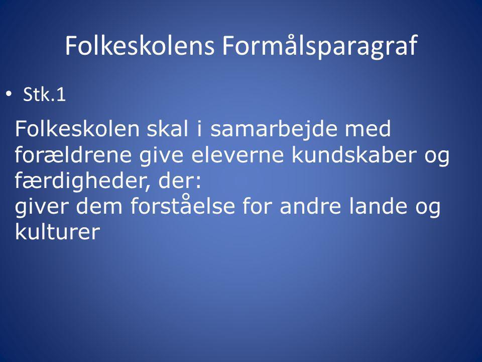 Internationalt samarbejde Uddannelsesforum 2011 Lone Nielsen Hornbæk Skole