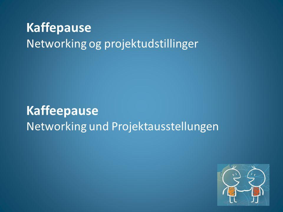 Kaffepause Networking og projektudstillinger Kaffeepause Networking und Projektausstellungen