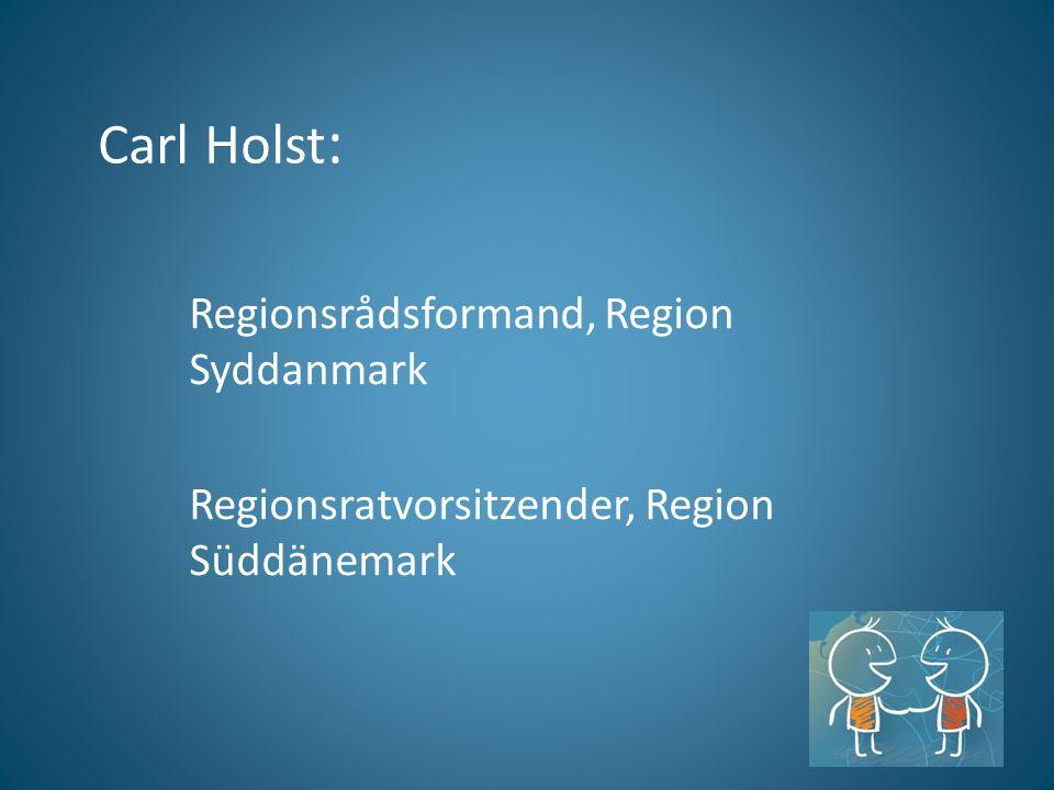 Carl Holst : Regionsrådsformand, Region Syddanmark Regionsratvorsitzender, Region Süddänemark