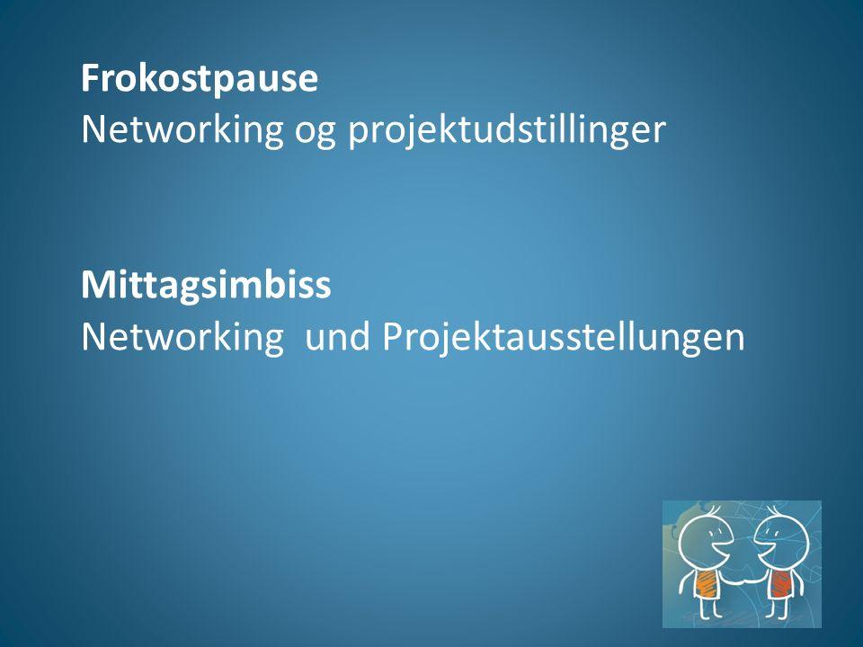 Frokostpause Networking og projektudstillinger Mittagsimbiss Networking und Projektausstellungen