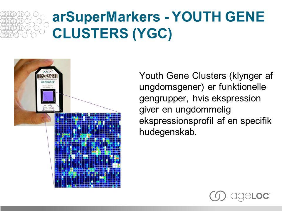 Youth Gene Clusters (klynger af ungdomsgener) er funktionelle gengrupper, hvis ekspression giver en ungdommelig ekspressionsprofil af en specifik hudegenskab.