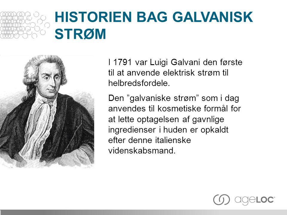 I 1791 var Luigi Galvani den første til at anvende elektrisk strøm til helbredsfordele.