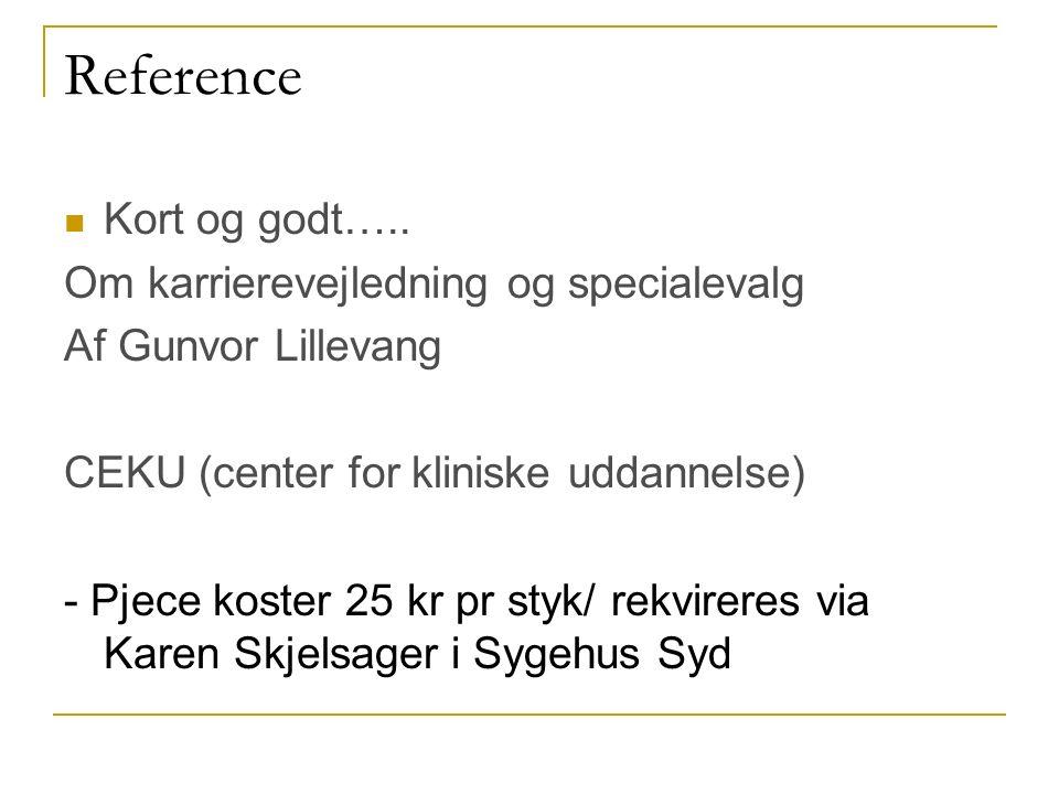Reference Kort og godt…..