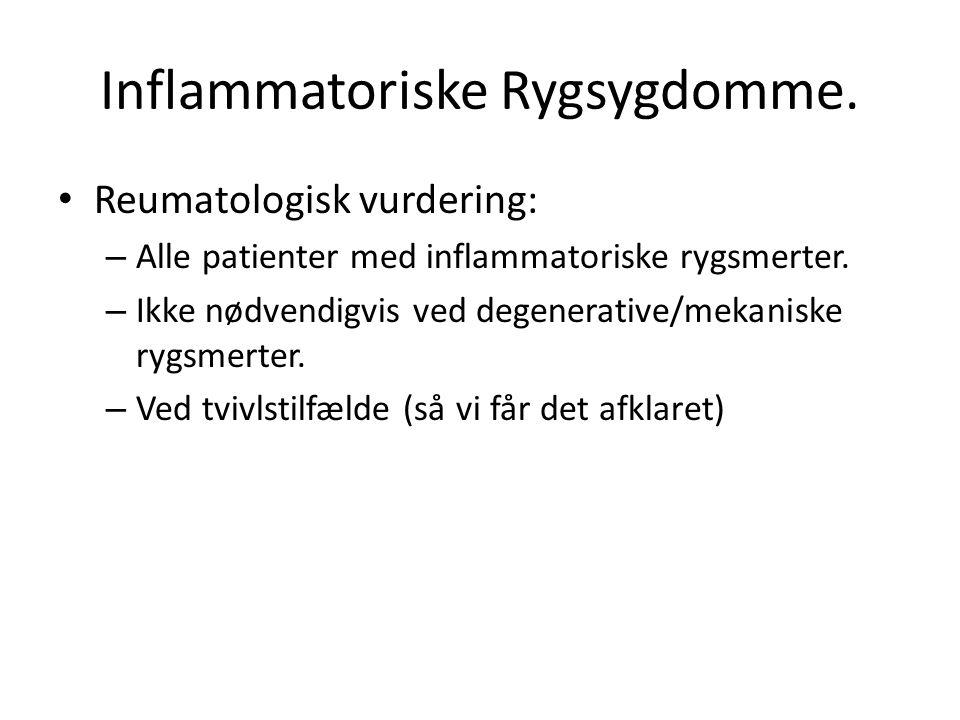 Inflammatoriske Rygsygdomme.