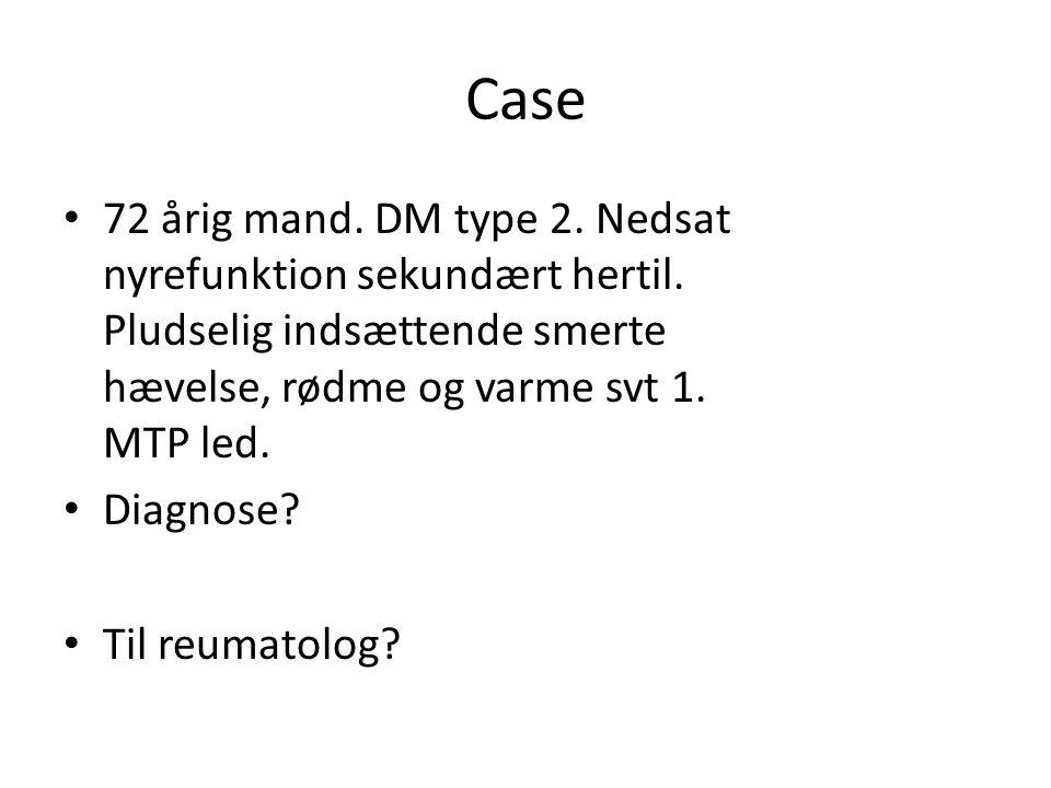 Case 72 årig mand. DM type 2. Nedsat nyrefunktion sekundært hertil.