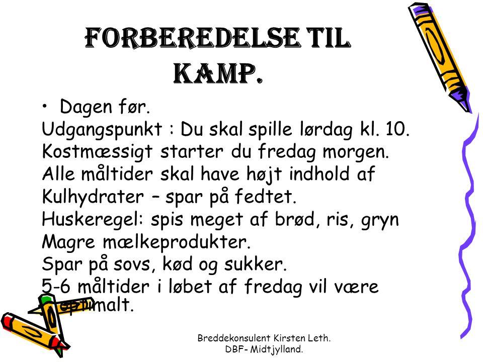 Breddekonsulent Kirsten Leth. DBF- Midtjylland. Forberedelse til kamp.