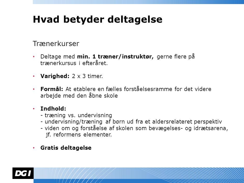 Navn Navnesen Trænerkurser Deltage med min.