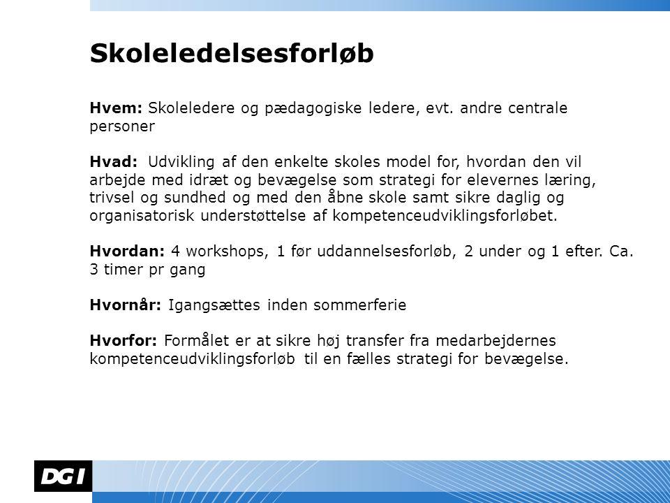 Navn Navnesen Hvem: Skoleledere og pædagogiske ledere, evt.