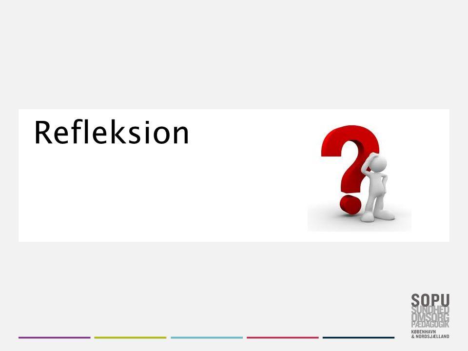 Skift farvedesign Gå til Design i Topmenuen Vælg dit farvedesign fra de seks SOPU-designs Vil du have flere farver, højreklik på farve- designet og vælg 'Applicér på valgte slides' Refleksion
