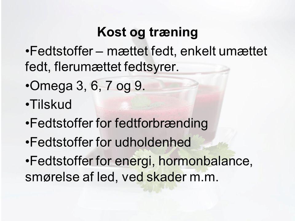 Møde med Pia Kost og træning Fedtstoffer – mættet fedt, enkelt umættet fedt, flerumættet fedtsyrer.
