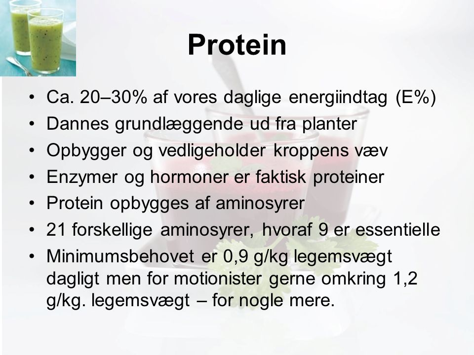 Møde med Pia Protein Ca.