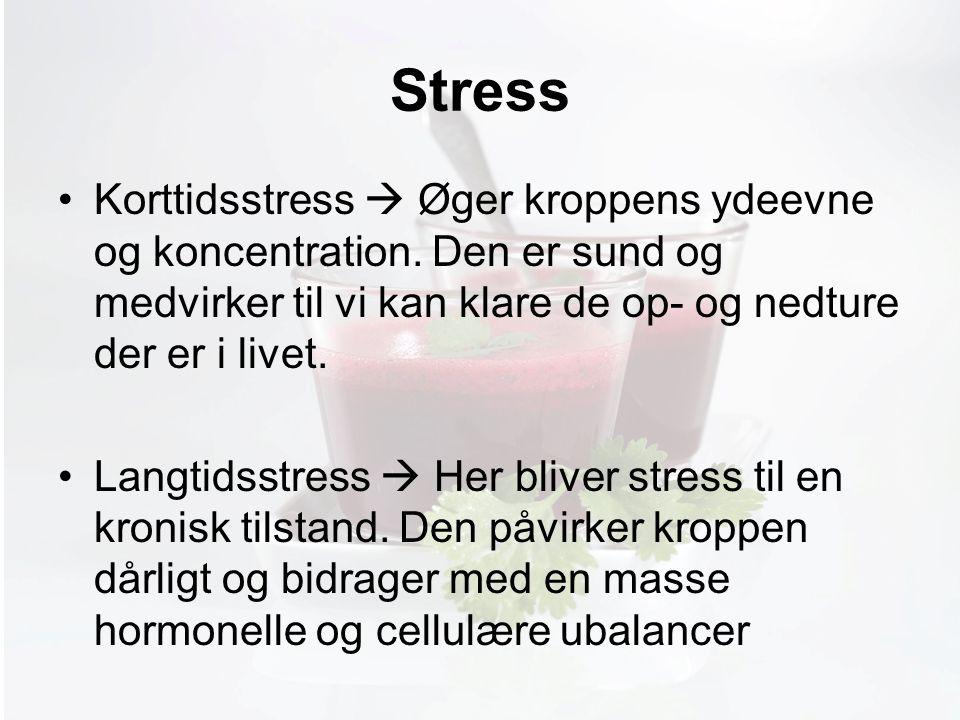 Møde med Pia Stress Korttidsstress  Øger kroppens ydeevne og koncentration.