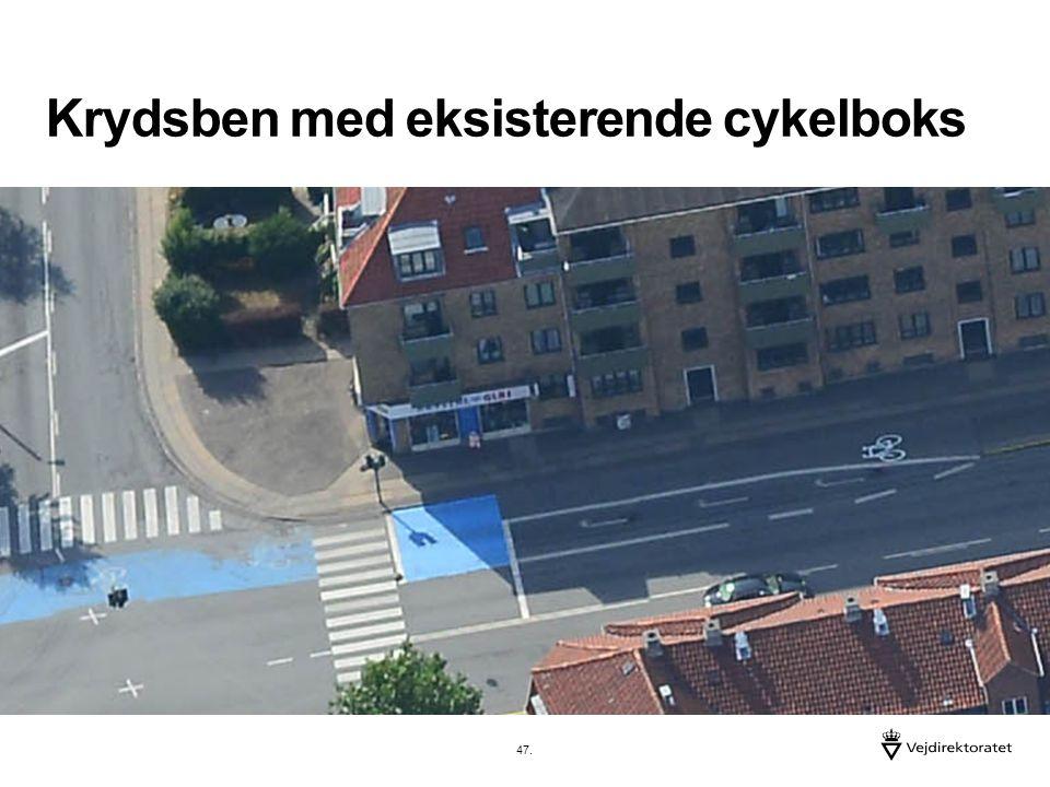 Krydsben med eksisterende cykelboks 47.