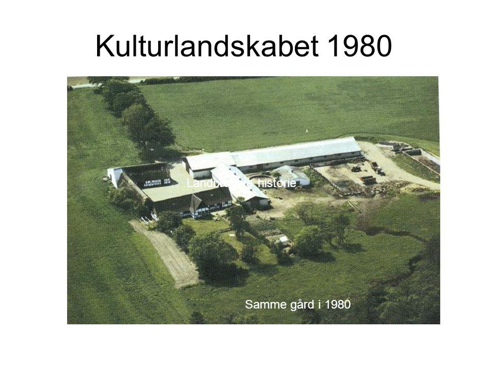 Kulturlandskabet 1980 Samme gård i 1980 Landbrugets historie