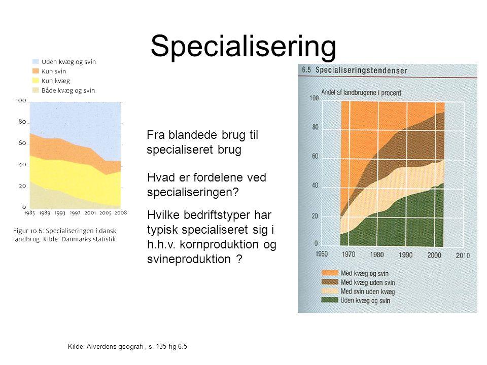Specialisering Kilde: Alverdens geografi, s.