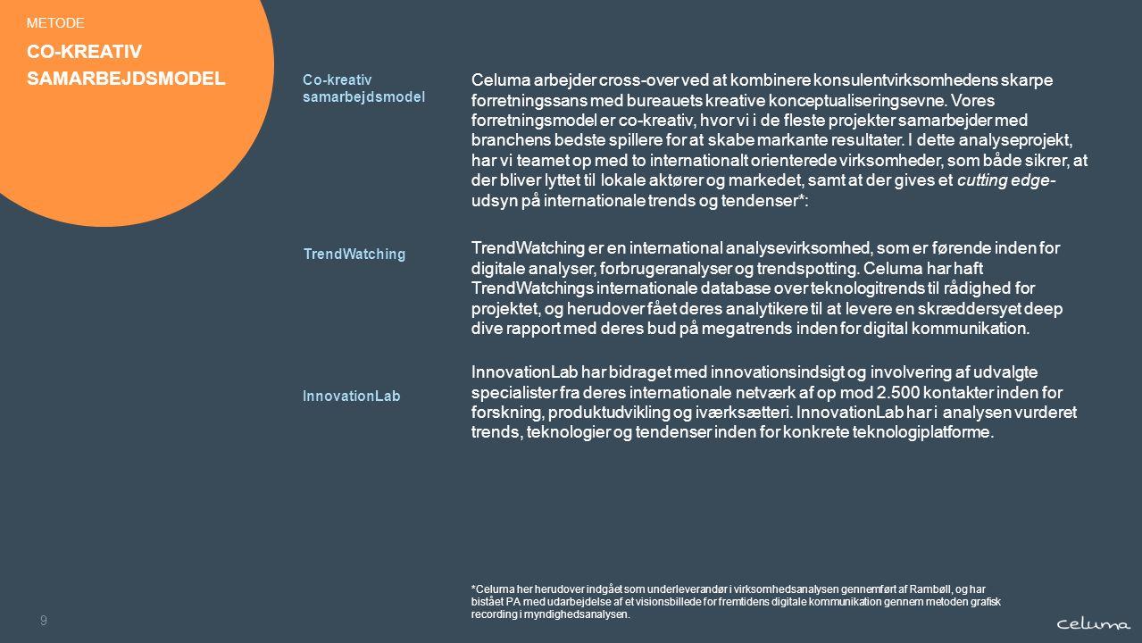 9 Celuma arbejder cross-over ved at kombinere konsulentvirksomhedens skarpe forretningssans med bureauets kreative konceptualiseringsevne.