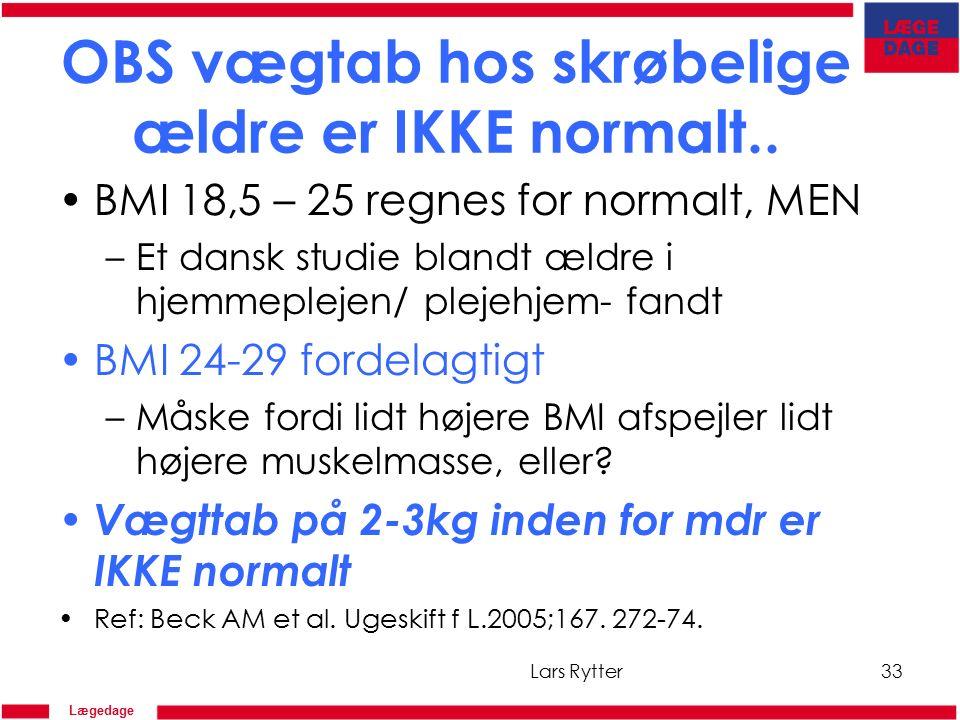 Lægedage OBS vægtab hos skrøbelige ældre er IKKE normalt..