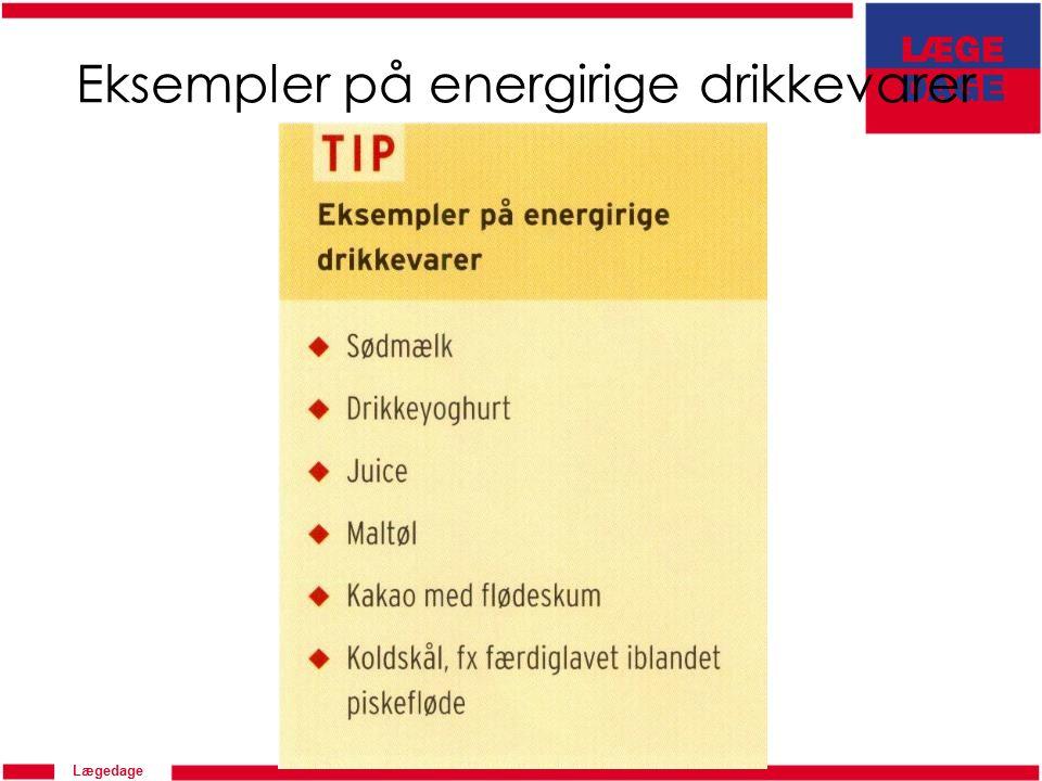 Lægedage Eksempler på energirige drikkevarer
