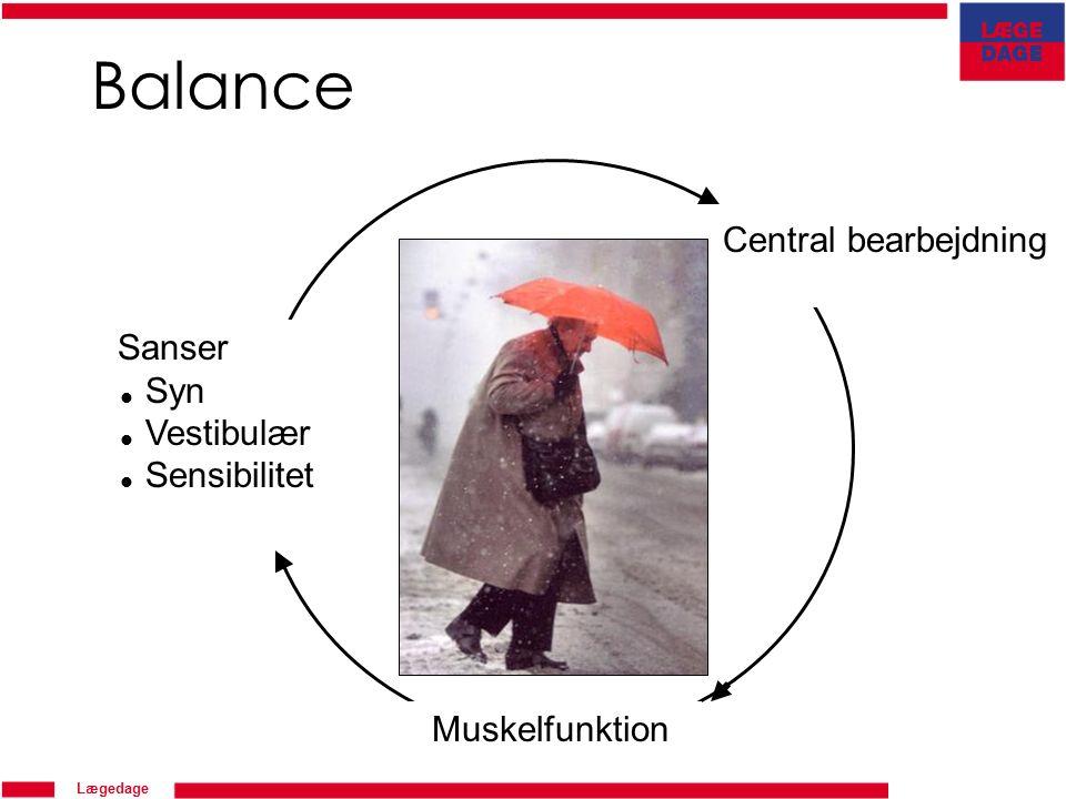 Lægedage Balance Sanser  Syn  Vestibulær  Sensibilitet Central bearbejdning Muskelfunktion