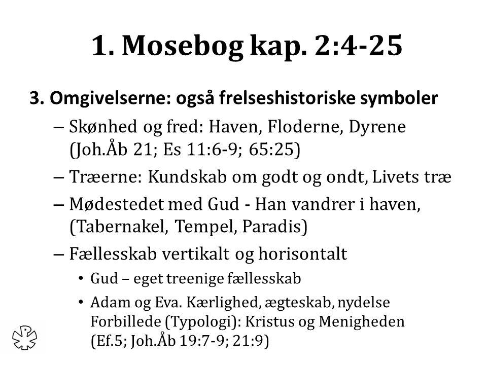1. Mosebog kap. 2:4-25 3.
