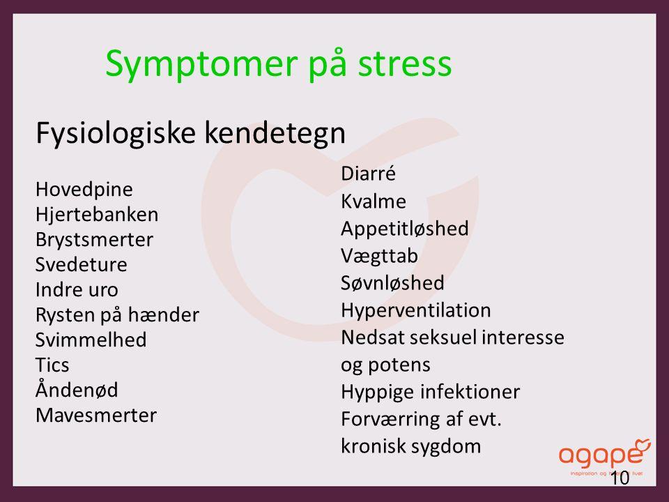 svimmelhed stress