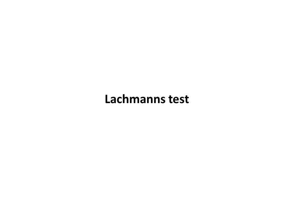 Lachmanns test