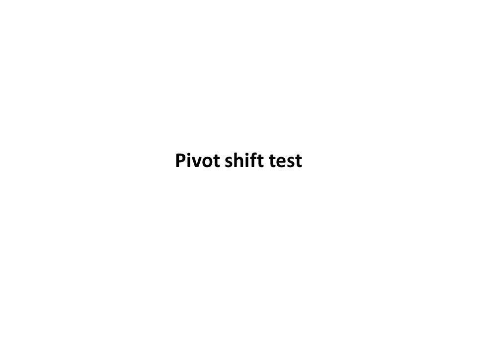 Pivot shift test