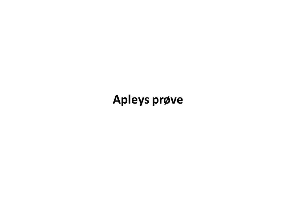 Apleys prøve