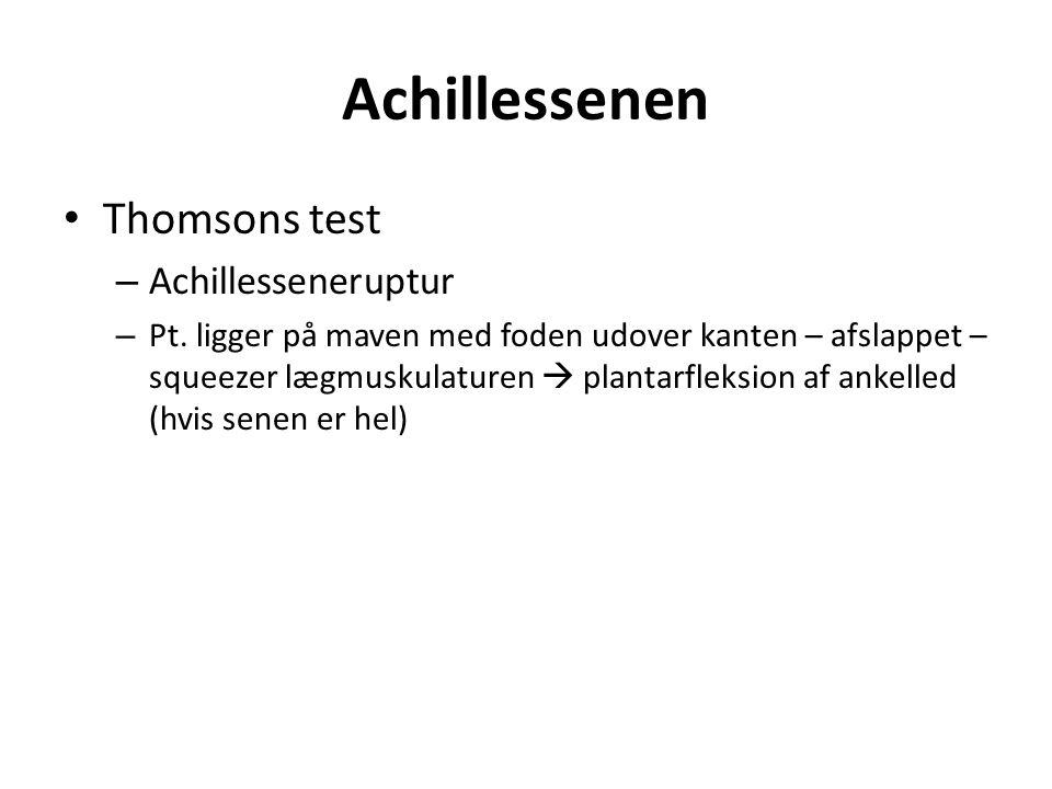 Achillessenen Thomsons test – Achillesseneruptur – Pt.