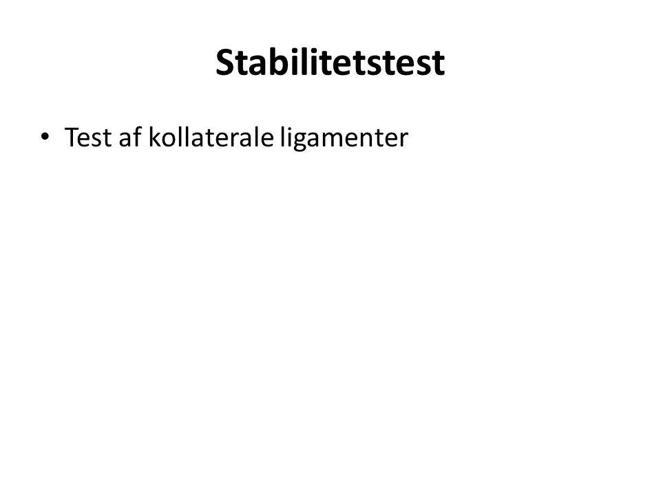 Test af kollaterale ligamenter