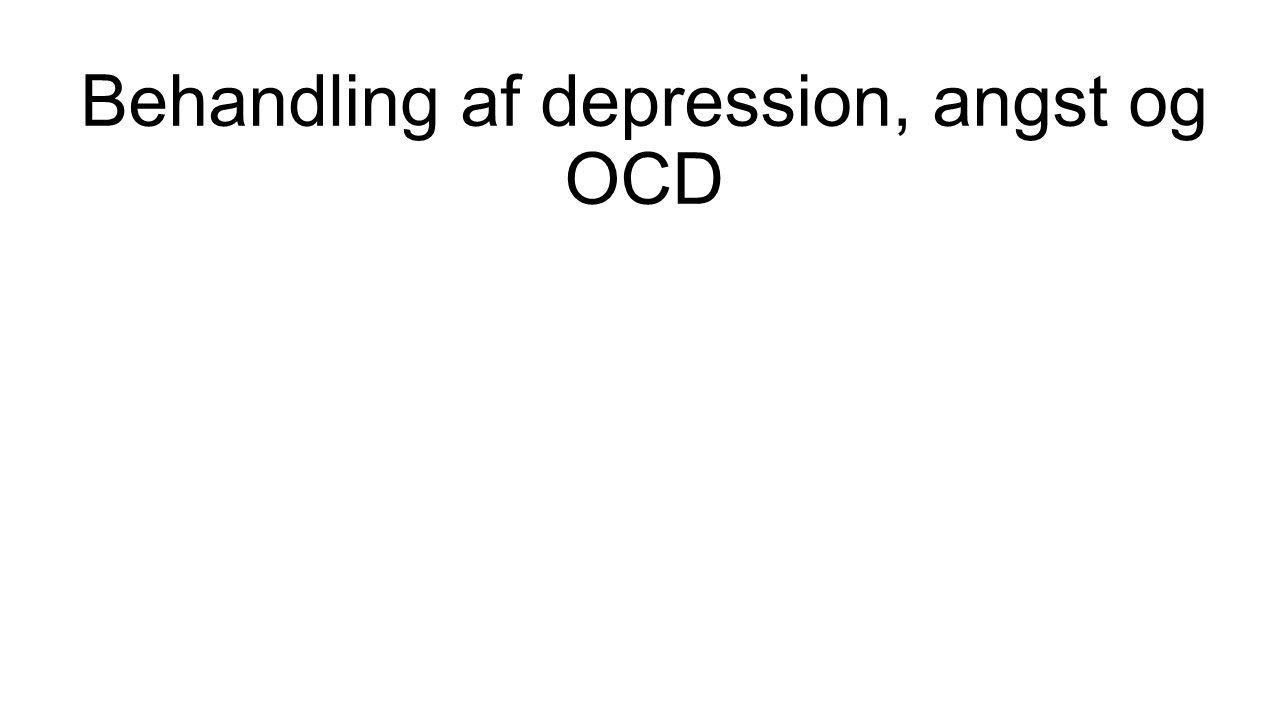 Behandling af depression, angst og OCD