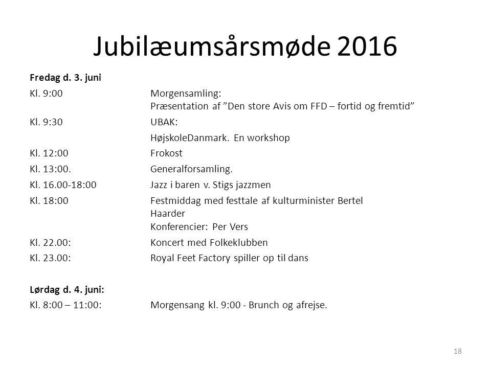 Jubilæumsårsmøde 2016 Fredag d. 3. juni Kl.