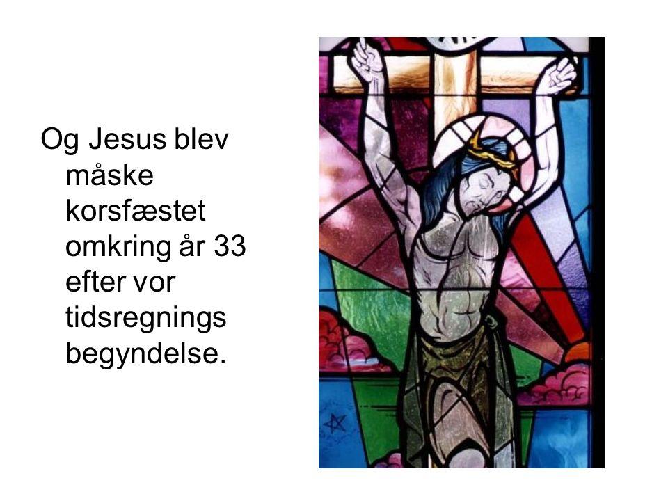 hvorfor blev jesus korsfæstet