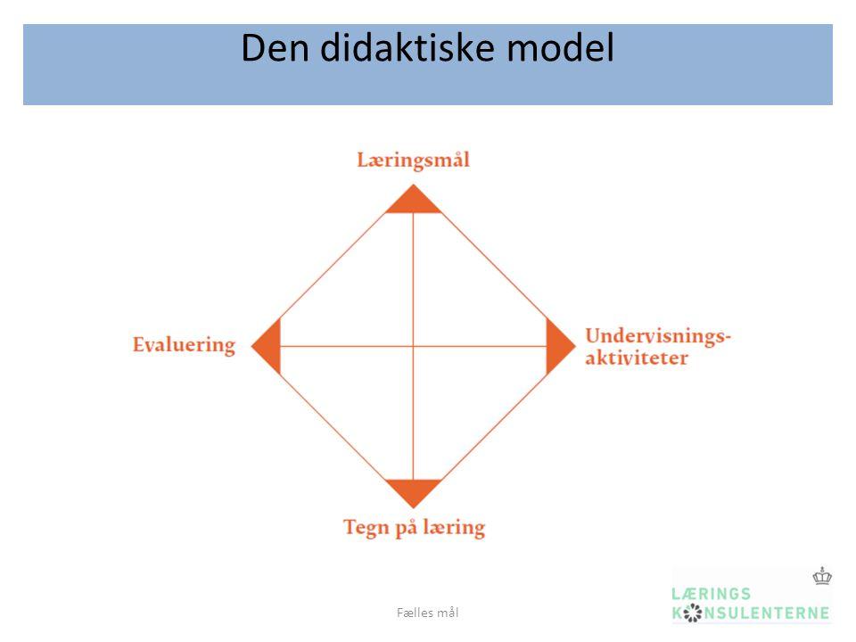 Den didaktiske model Fælles mål
