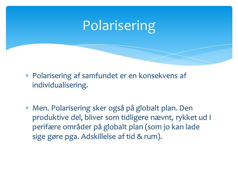  Polarisering af samfundet er en konsekvens af individualisering.