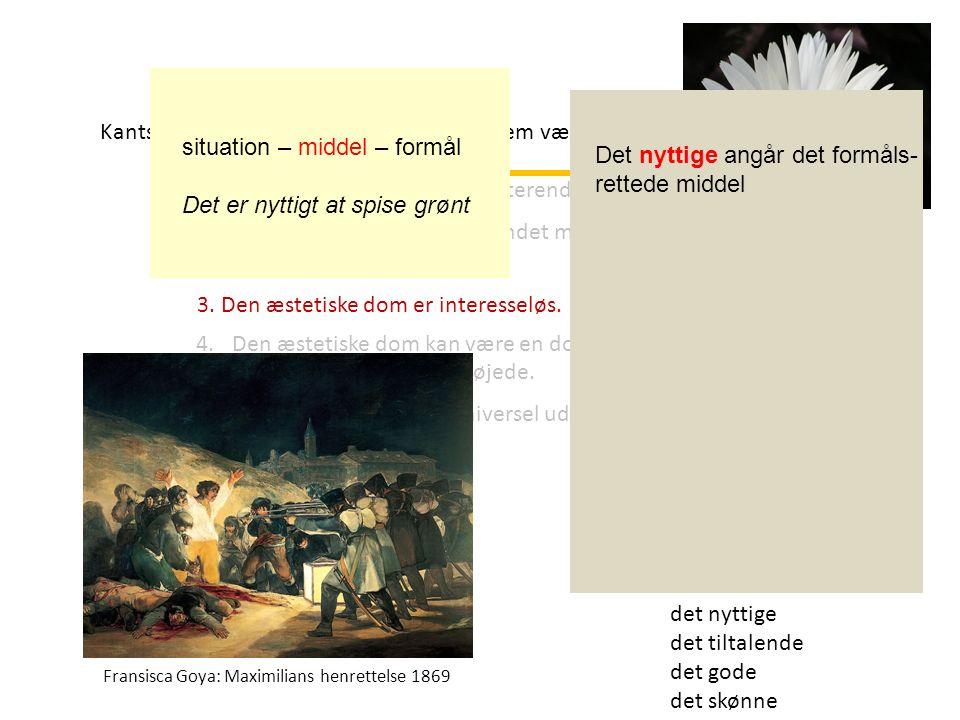 det nyttige det tiltalende det gode det skønne Jan Vermer Pigen med perleøreringene 1665 Kants æstetiske dom er karakteriseret af fem væsenstræk: 1.Den æstetiske dom er reflekterende.