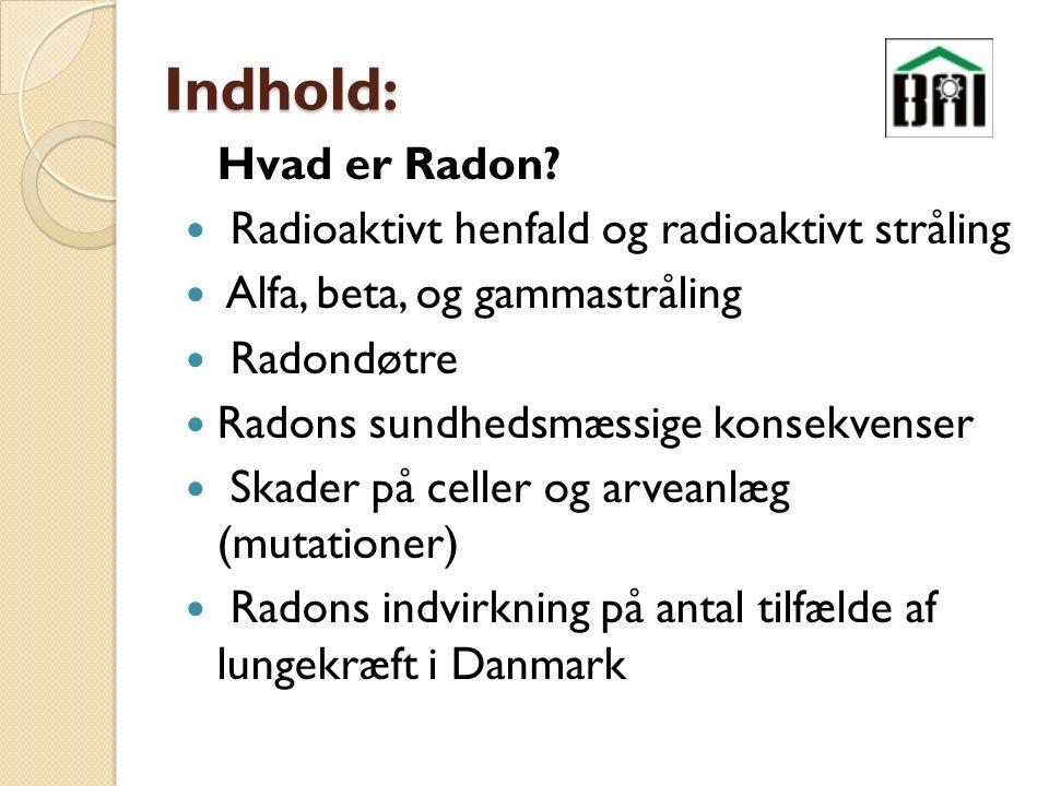 Indhold: Hvad er Radon.