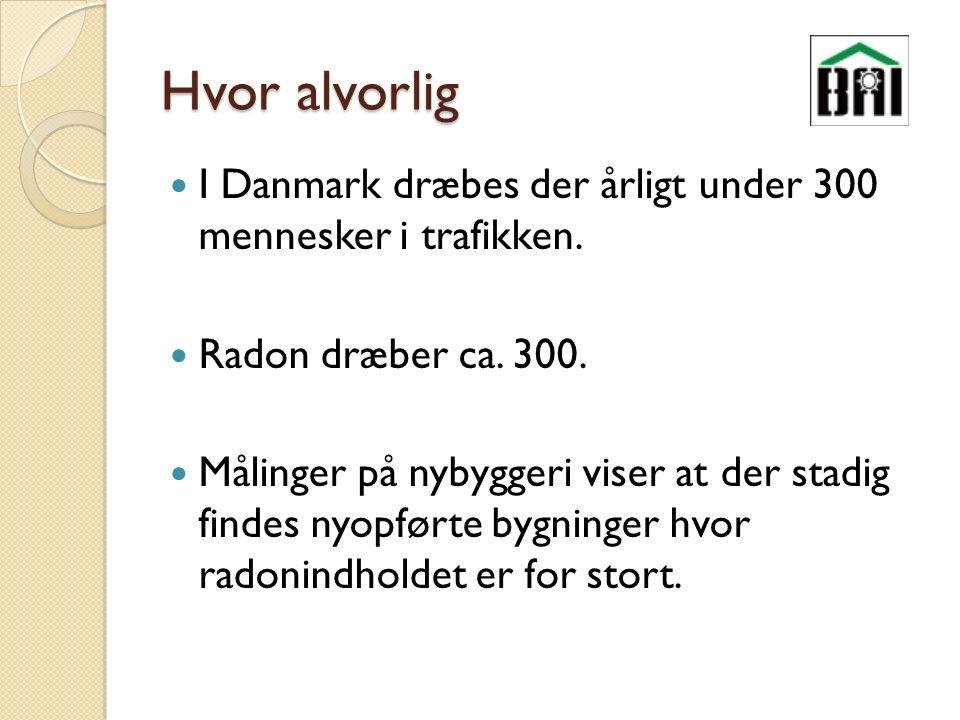 Hvor alvorlig I Danmark dræbes der årligt under 300 mennesker i trafikken.