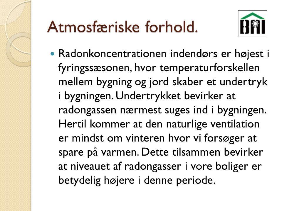 Atmosfæriske forhold.
