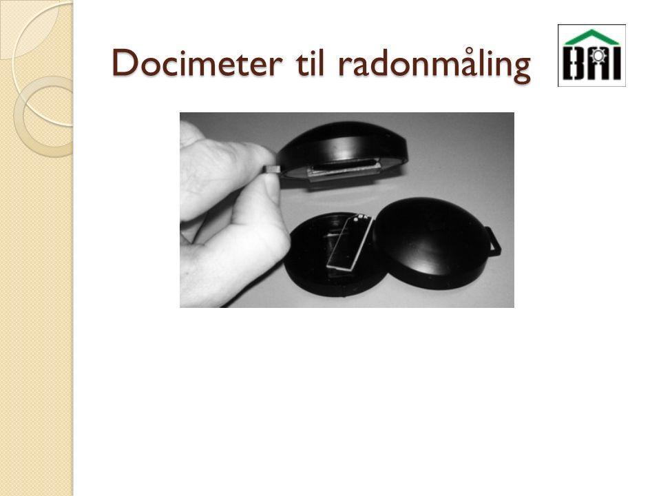 Docimeter til radonmåling