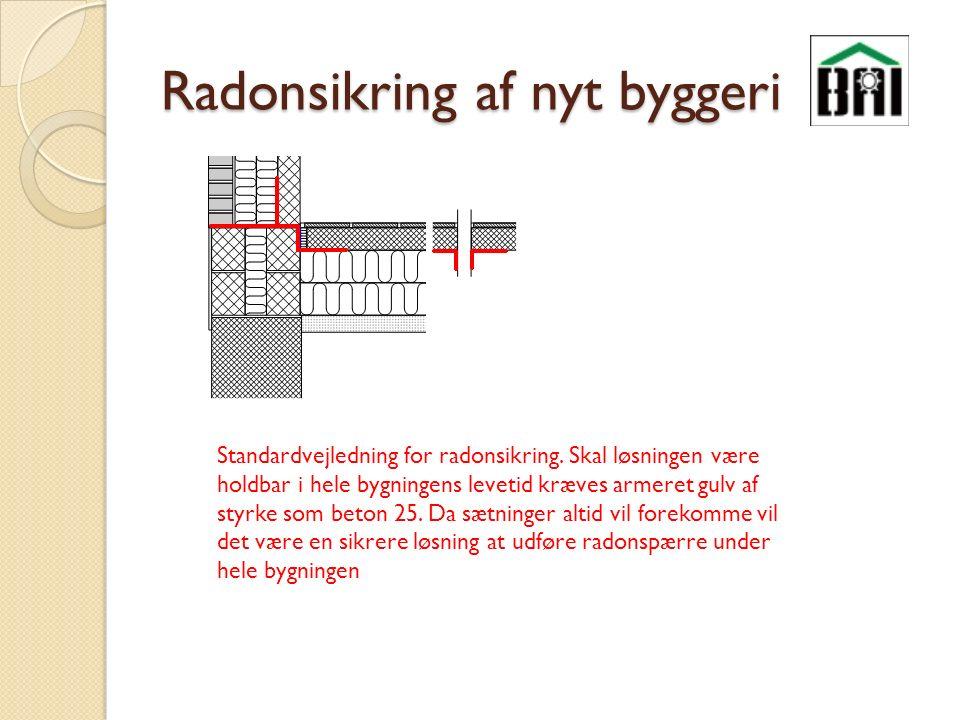 Radonsikring af nyt byggeri Standardvejledning for radonsikring.