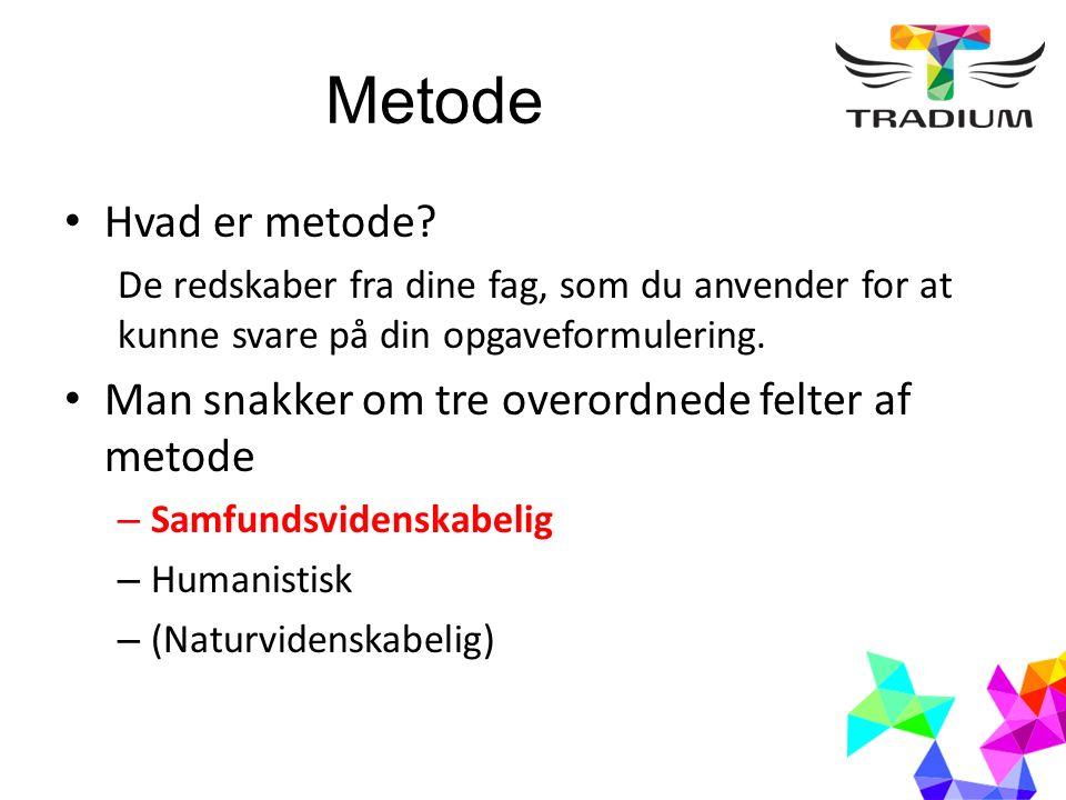 Metode Hvad er metode.